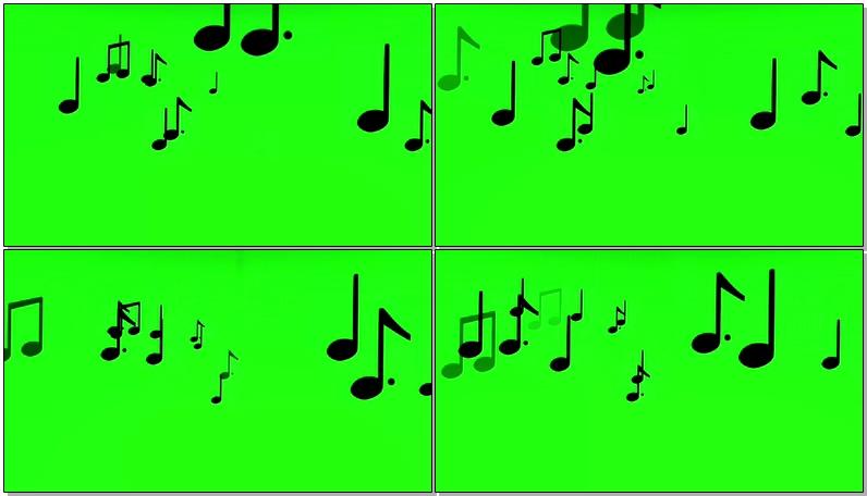 绿屏抠像跳动的音符