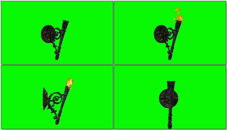 \[4K\]绿屏抠像古代火炬