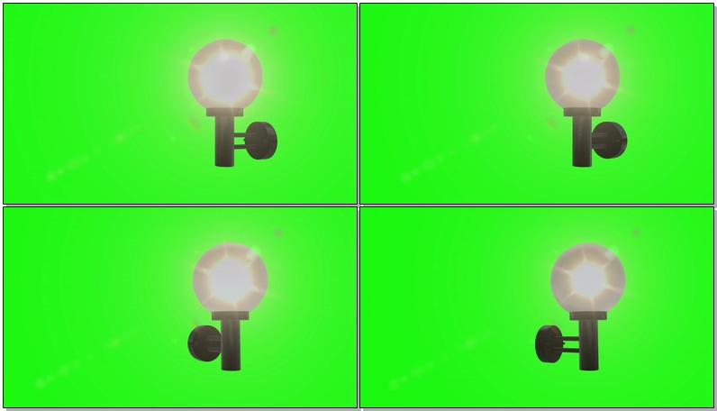 \[4K\]绿屏抠像路灯照明灯
