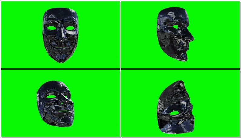 \[4K\]绿屏抠像银色面具
