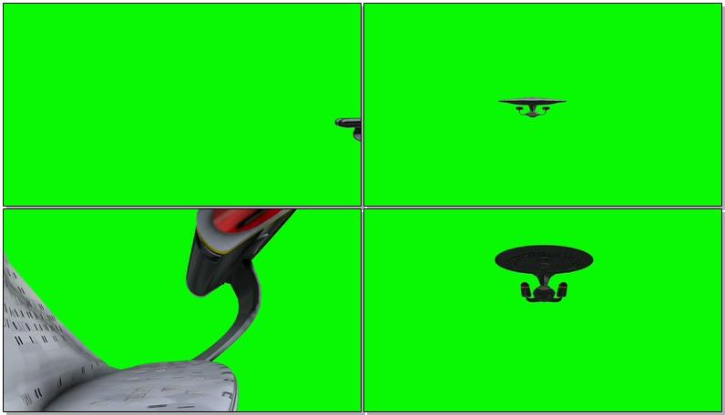 绿屏抠像宇宙飞船战舰
