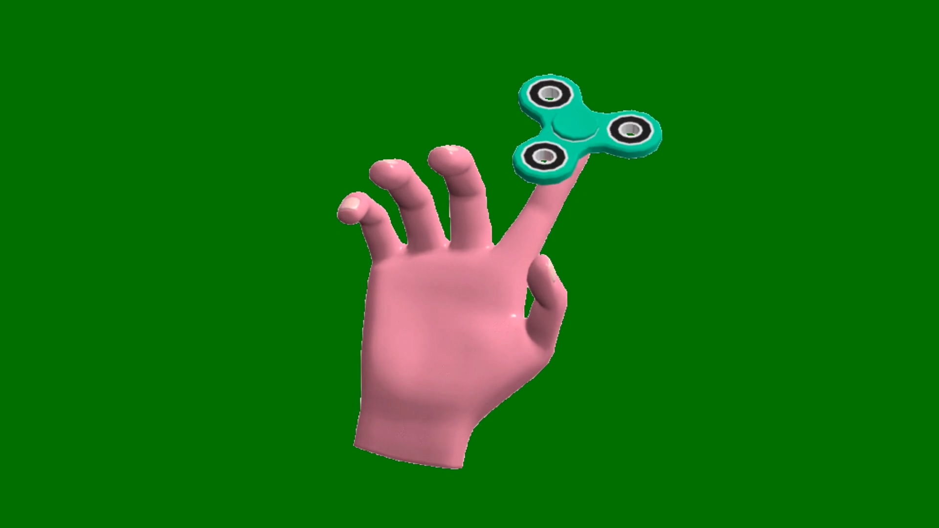 绿屏抠像指尖陀螺