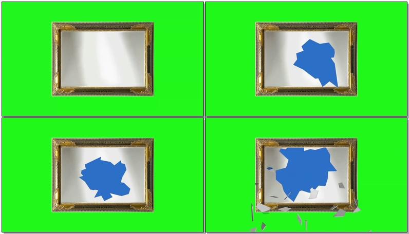 绿屏抠像破碎的镜框