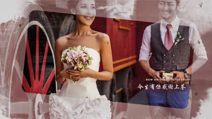 水墨婚礼浪漫AE模板