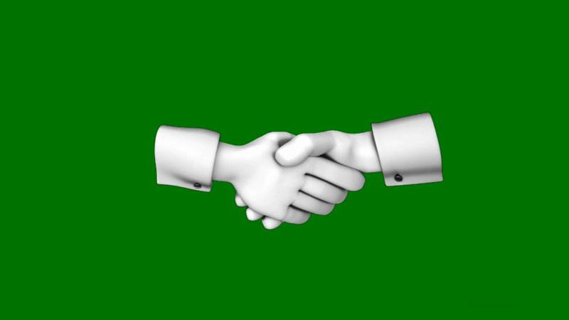 绿屏抠像握手