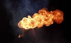 喷火表演视觉创意素材