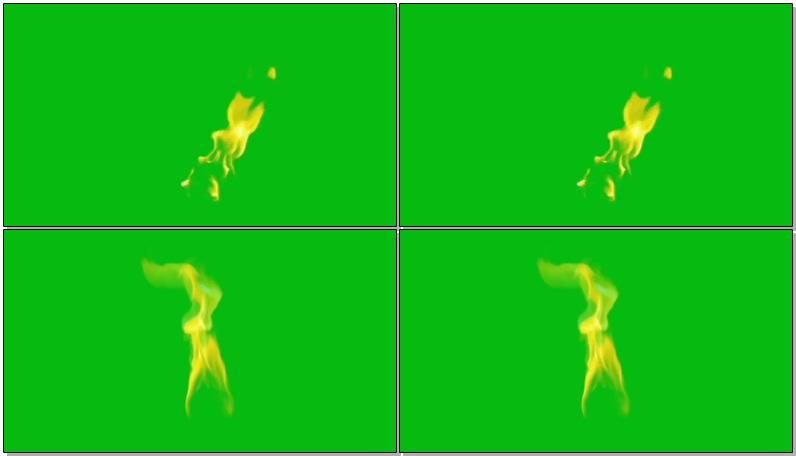 绿屏抠像燃烧的火苗