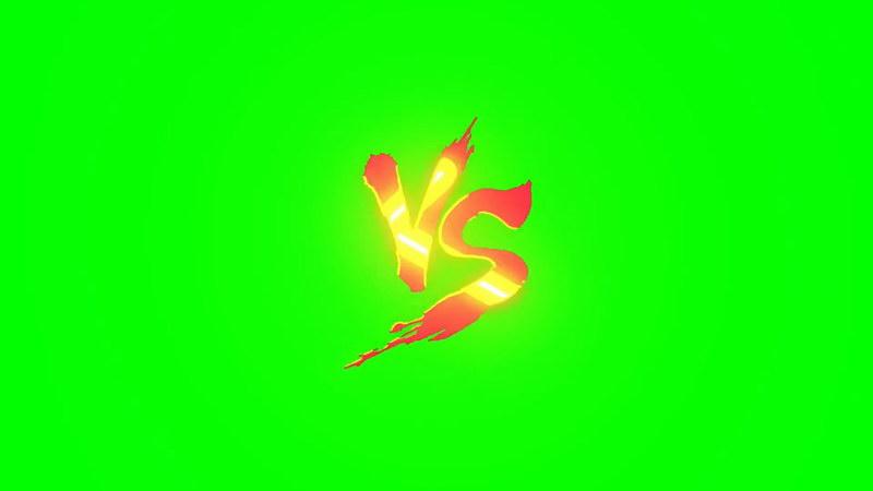绿屏抠像对战VS标志