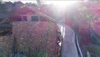 农村四合院石头房子实拍视频素材