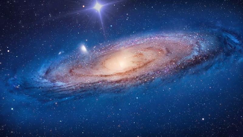 旋转的宇宙星云漩涡