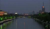 杨州大运河(从黑夜到清晨、快速)