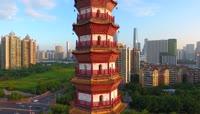高清航拍广州城市全景视频素材
