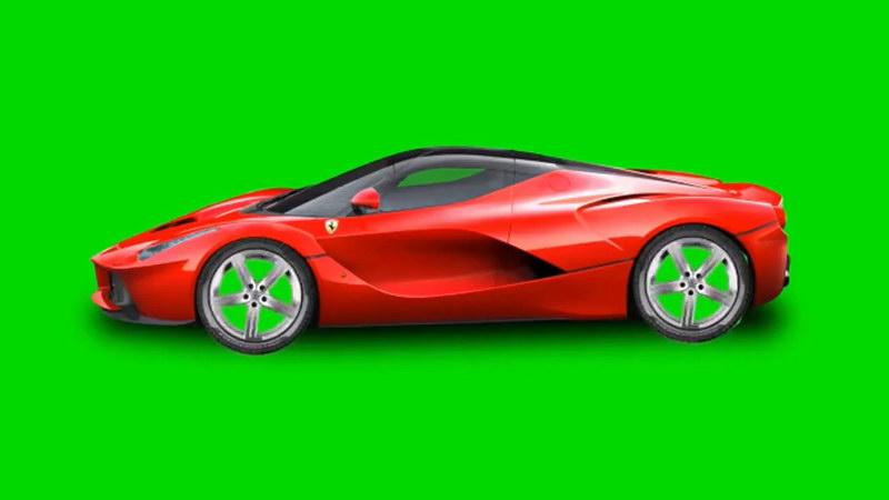 绿屏抠像红色轿车