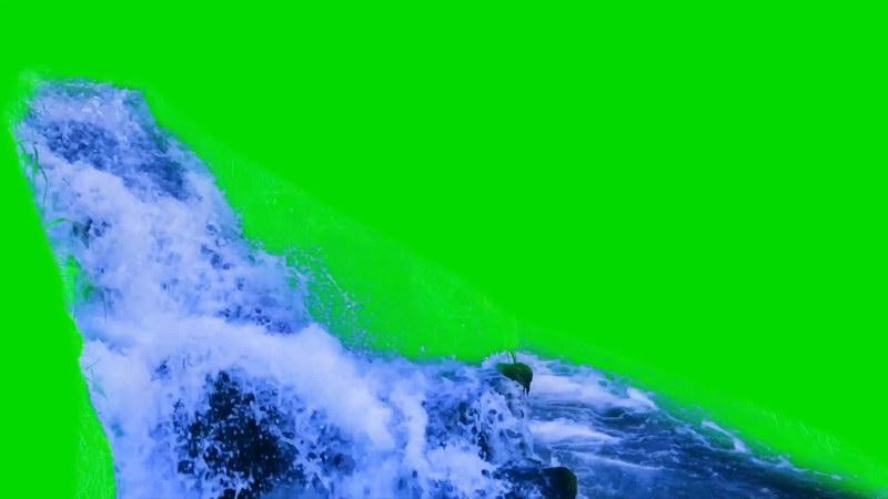 \[4K\]绿屏抠像瀑布小溪