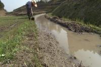日本农业水稻种植 农民劳动延时摄影 梯田耕地锄地