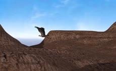 绿屏抠像飞行的秃鹫