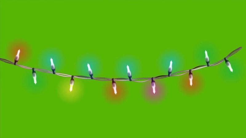 \[4K\]绿屏抠像闪光的霓虹灯