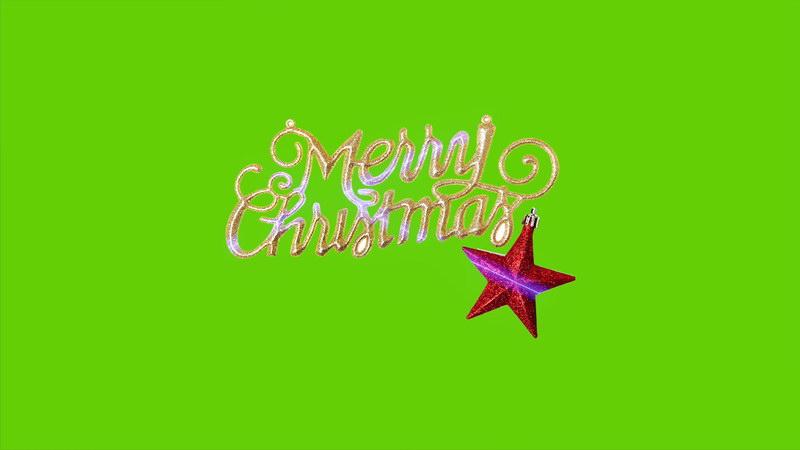 \[4K\]绿屏抠像圣诞快乐闪光饰品