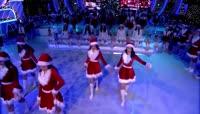 圣诞节联欢晚会舞蹈实拍视频素材