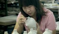 瓷器绘画 景德镇陶瓷制作视频素材
