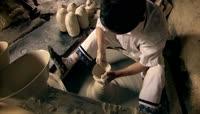 中国瓷都景德镇陶瓷瓷器制作 拉胚