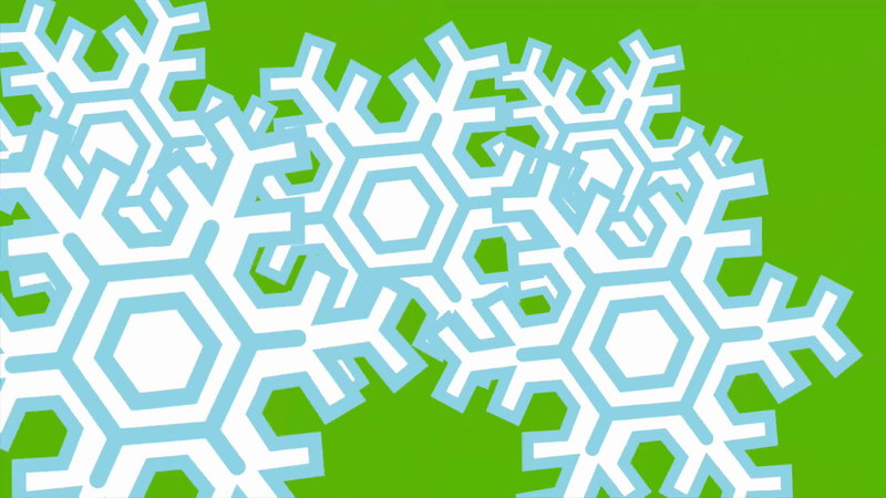 \[4K\]绿屏抠像雪花片