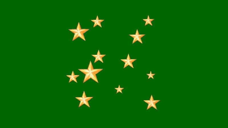 绿屏抠像闪烁的星星