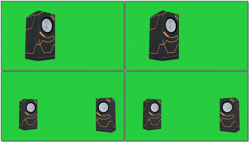 绿屏抠像震动的音箱