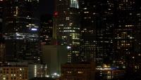 夜晚城市夜景全景 建筑物 高楼大厦楼房灯光 延时摄影拍摄