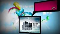 企业宣传 潮流彩虹