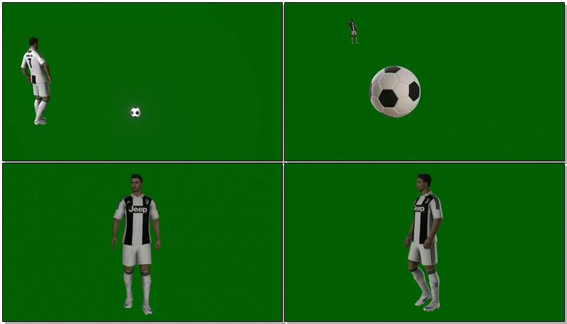 绿屏抠像足球运动员C罗