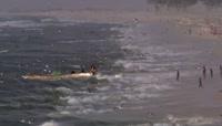 航拍非洲渔民 捕鱼业 渔业渔船 水产渔业资源视频素材