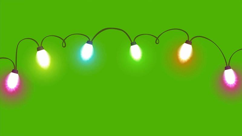 \[4K\]绿屏抠像多彩霓虹灯