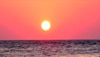 海平面太阳彩云 日落黄昏海水 夕阳海景1