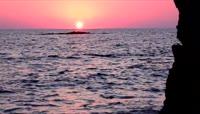 海平面太阳彩云 日落黄昏海水 夕阳海景2