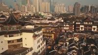 航拍上海城市风景风光景观繁华夜景 人文民居视频素材