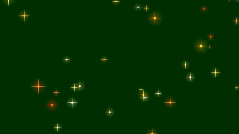 绿屏抠像彩色星光