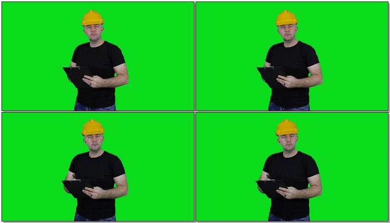绿屏抠像工作的工程师