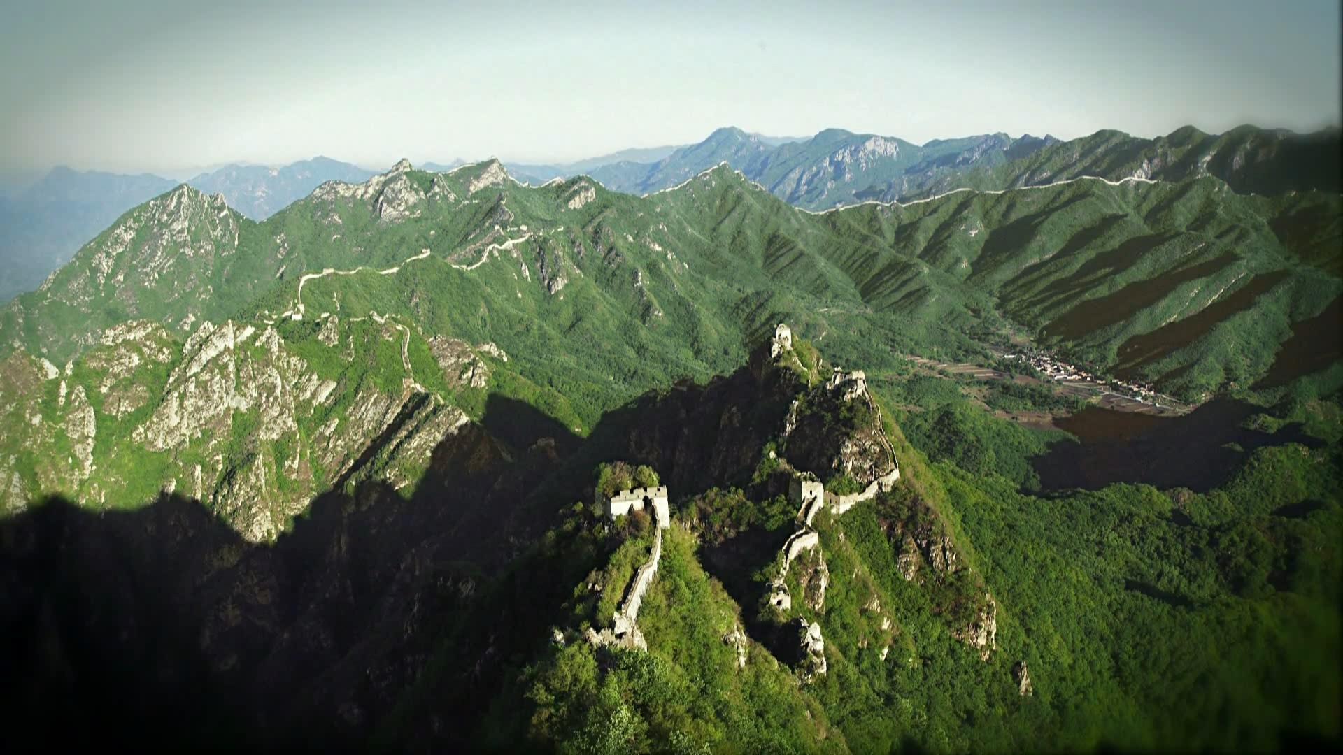 长城城墙历史记忆自然风景实拍视频素材背景