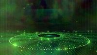 动感绚丽绿色网状光线晚会舞台背景视频