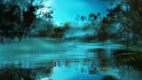 中秋节 意境 森林 梦想 湖泊 童话 视频素材