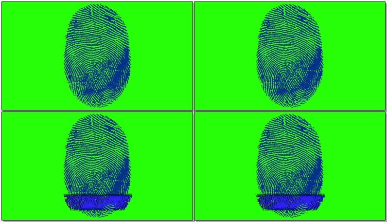 绿屏抠像指纹扫描