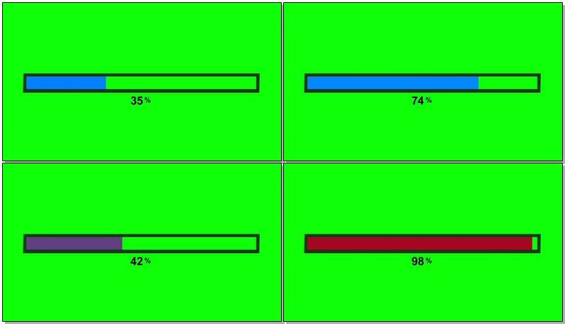 \[4K\]绿屏抠像彩色进度条