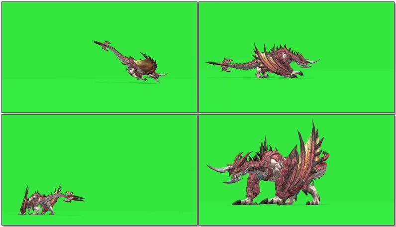绿屏抠像怪兽龙