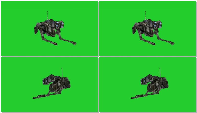 绿屏抠像工作的微型机器人