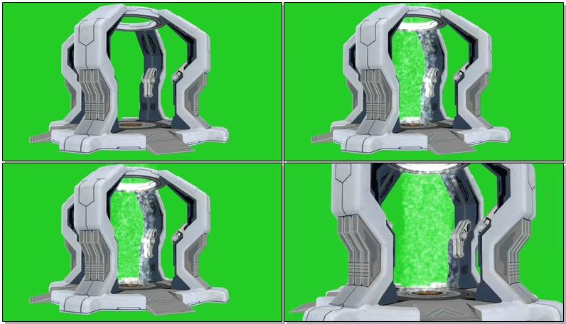 绿屏抠像时空传送门