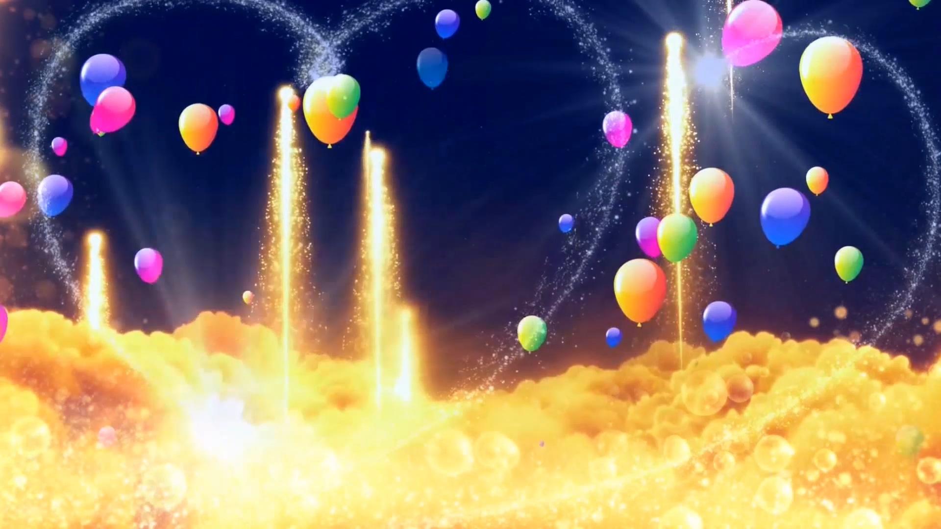 唯美爱心气球云彩霞光蓝天爱情视频素材背景