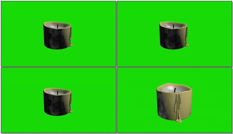 绿屏抠像白色蜡烛