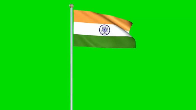 绿屏抠像印度国旗