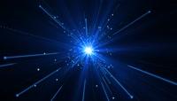 蓝色光芒闪烁粒子特效视频素材